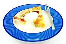 Free Pie And Cream Stock Photography - 10137232