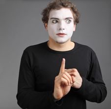 Portrait Of The Mime Royalty Free Stock Image