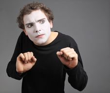 Free Portrait Of The Mime Stock Photo - 10137420