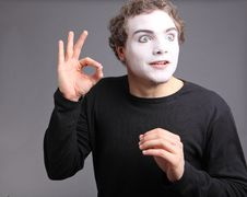 Portrait Of The Mime Stock Photography