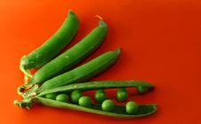 Free Green Peas Vegetable With Seed Closeup View Stock Images - 10137874
