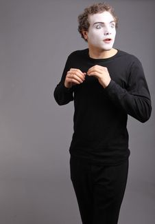 Free Portrait Of The Mime Stock Photography - 10137902