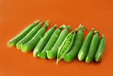 Green Peas Vegetable With Seed Closeup View Royalty Free Stock Photo