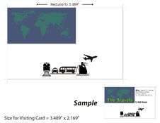 Free Visiting Card Template - 3 Royalty Free Stock Photos - 10138188