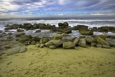 Free Panoramic Beach View With Wide Angle Royalty Free Stock Images - 10138219