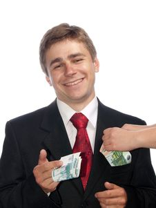 Free Businessman With Money Stock Photography - 10138232
