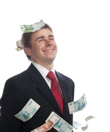 Free Businessman With Money Stock Photo - 10138250