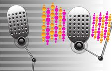 Free Music Set Of Two Retro Microphones Stock Images - 10139284