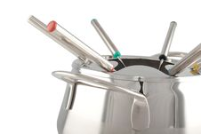 Free Stainless Steel Fondue Maker Royalty Free Stock Photo - 10139495