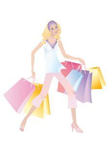 Free Shopping Girl Stock Image - 10139601