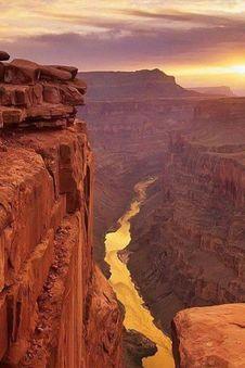 Free Sunset Canyon Stock Photography - 101313392