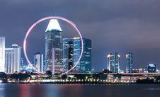 Free Singapore Flyer Night Stock Image - 101318511