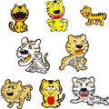Free Tiger Set Six Royalty Free Stock Photo - 10147775