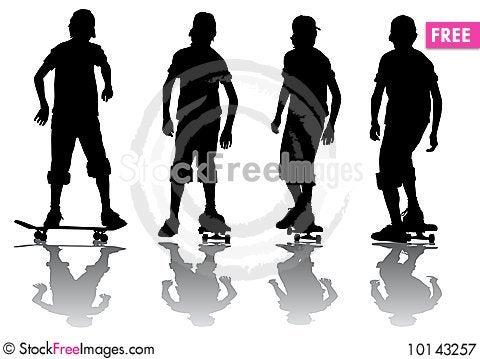 Boy on skeytboarde Stock Photo