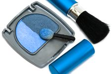Free Blue Make-up Eyeshadows Royalty Free Stock Photo - 10140795