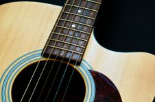 Acoustic Guitar Body Stock Photo