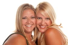Free Two Beautiful Smiling Sisters Portrait Royalty Free Stock Image - 10141836