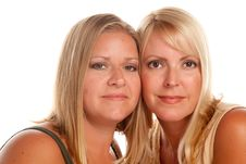 Free Two Beautiful Sisters Portrait Stock Image - 10141841