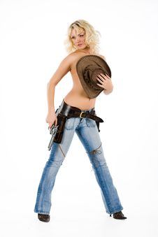 Free The Cow Girl Stock Image - 10142451