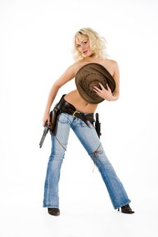 Free The Cow Girl Royalty Free Stock Images - 10142459