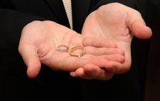 Free Groom Holds Wedding Rings Royalty Free Stock Photos - 10142668