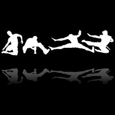 Jumping Men Silhouettes Royalty Free Stock Image
