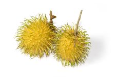 Yellow Rambutan Tropical Fruits Royalty Free Stock Photo