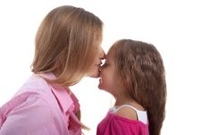 Free Cute Little Girl And Her Mother Stock Photography - 10143372
