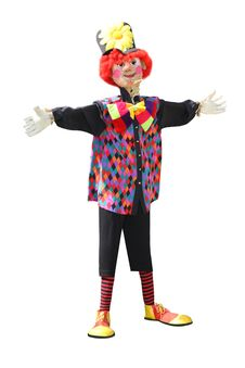 Clown Scarecrow. Royalty Free Stock Images