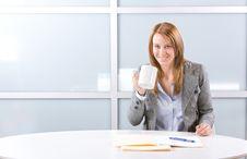 Free BUsiness Woman Coffee Stock Image - 10144271