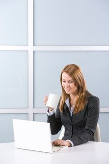 Free Business Woman In Modern Office Stock Image - 10144661
