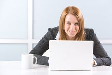Free Business Woman Laptop Royalty Free Stock Photo - 10144825