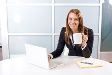 Free Business Woman Laptop Stock Images - 10145604