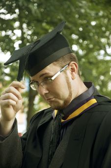 Funny Graduate Royalty Free Stock Photography