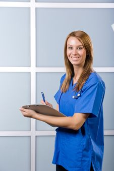 Free Female Nurse In A Modern Office Royalty Free Stock Image - 10147976