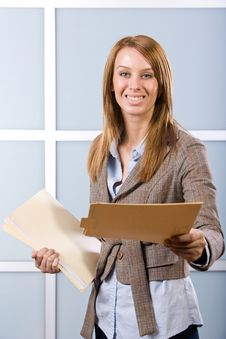Free Business Woman Holding Legal Documents Stock Photography - 10148812