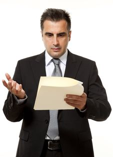 Businessman With Document Royalty Free Stock Photography