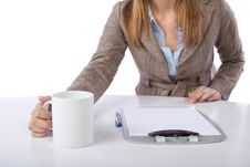 Free Business Woman Drinking Coffee Royalty Free Stock Photography - 10149597