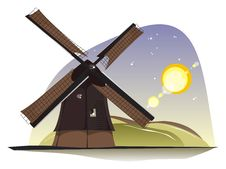 Free Windmill In The Sunlight Royalty Free Stock Photo - 10149625