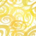 Free Seamless Yellow Whirl Pattern Stock Image - 10155601