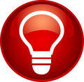Free Red Bulb Button Royalty Free Stock Photography - 10156407