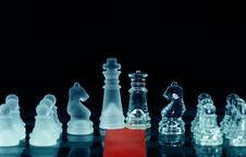 Chess And Red Ribbon On Chess Board With Royalty Free Stock Photos