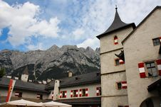 Free Towers Hohenwerfen Medieval Castle In Alps Royalty Free Stock Photo - 10150445