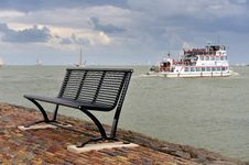 Free A Bench And The Boat In The Netherlands Royalty Free Stock Photos - 10151968