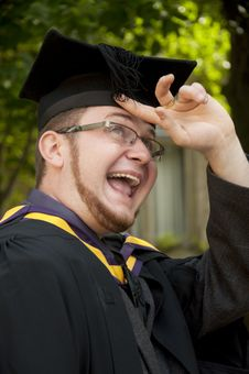 Free Funny Graduate Royalty Free Stock Photography - 10152787