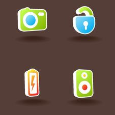 Free Vector Web Icons. Set 2. Royalty Free Stock Photography - 10152957