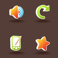 Free Vector Web Icons. Set 8. Royalty Free Stock Photography - 10152987
