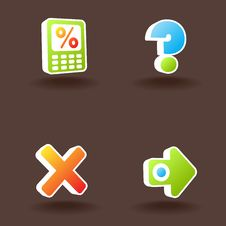 Free Vector Web Icons. Set 9. Stock Photography - 10152992