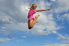 Free Girl Jump High Stock Photo - 10153250