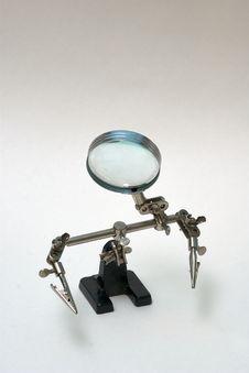 Free Sad Magnifying Glass, Loupe Robot Stock Photography - 10153442